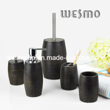 Rubber Wood Bath Set (WBW0201A)