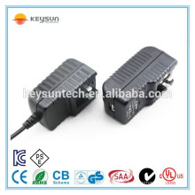 12w 24v 500ma eu uk au us plug changeable power adapter