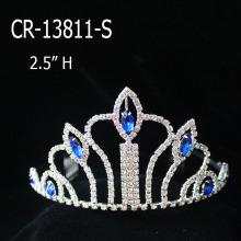 """2.5"""" Sapphire Crystal Cheap Crown Tiara"""