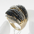 Women's fashion accessories luxury sparkling crystal full rhinestone rings 2 colors