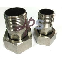 Protección del medio ambiente conector de medidor de agua de acero inoxidable 304
