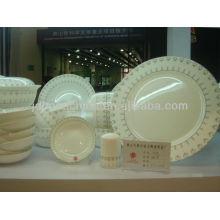 Стильный королевский тонкой керамической костяной фарфор наборы столовой посуды
