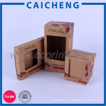 Papel reciclado personalizado embalaje de caja barata kraft
