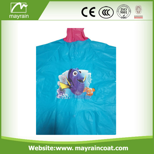 PVC Raincoat with Printing
