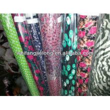 2013 new design spun rayon printed fabric in stock