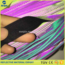 High Visibility Stretch Rainbow reflektierende Paspeln für Sportbekleidung