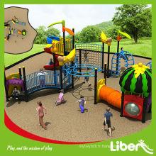 Exercices pour enfants populaires en plein air Équipement de terrain de jeu avec toboggan LE.SG.009