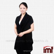 Mulheres encapuzadas adulto toalha poncho malha ponta de cashmere