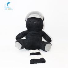 Personnalisation multifonction Marionnette à main ours noir de dessin animé