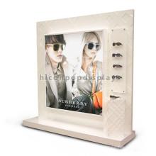 Eyeglass Retail Shop Attractive Visual Advertising Wood Double Sided Floor Standing Display Eyewear Stand