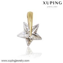 31640 xuping 14k gold pendant jewelry single stone star pendant