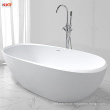 Acrylic Resin Stone Solid Surface Short Bathtub with Drainer