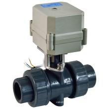 Válvula de bola de PVC motorizada de 2 vías