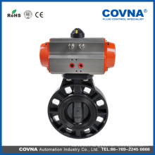 PVC plastic wafer Butterfly air actuator Valve