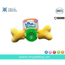 Nueva llegada de peluche con TPR perro de hueso Toy Pet Product