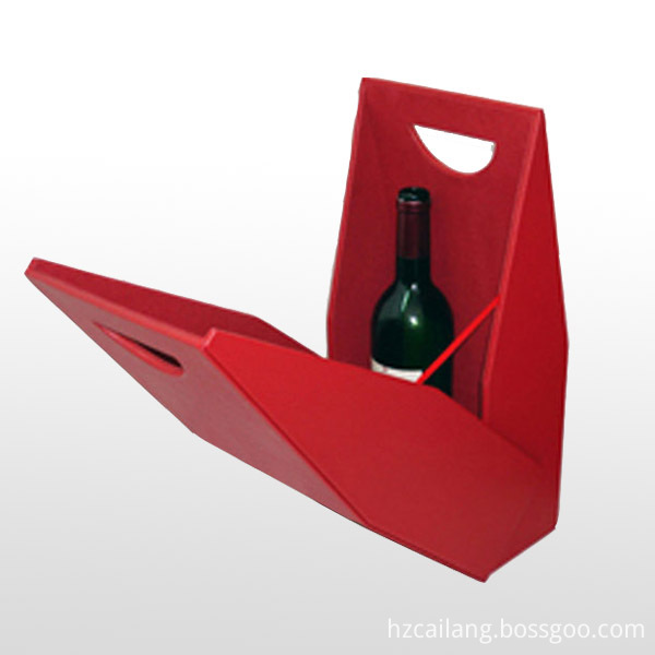 Wine Gift Box With Cut Out Handle