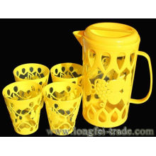 Plastic Water Jug and Cups