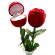 Caja de anillo rosa para el día de San Valentín (MX-292)