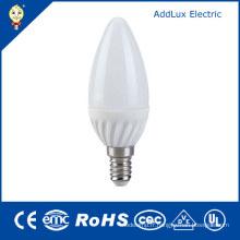 Lampe de bougie de LED de la CE UL 220V SMD 3W E14