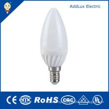 CE UL 220V SMD 3W E14 LED Candle Lamp
