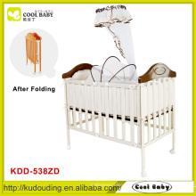 Factroy NEUE Kinder Produkt Faltbare Baby Cot Ein Single High Pole Moskitonetz und dicke Matratze Baby Crib