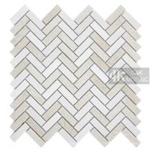 Стеклянная мозаика в елочку Backsplash Beige Tile