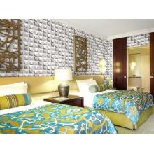 Colorful Graffiti Fiber 3D Wall Coverings Interior Wall Pan
