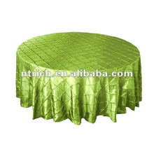 Pintuck taffeta wedding round table cloth