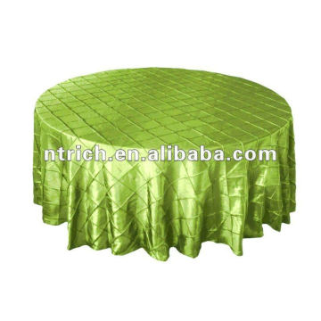 Pintuck taffeta wedding round table cloth