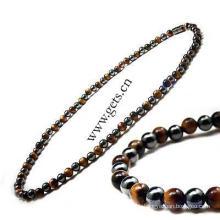 Gets.com 2015 magnetic hematite genuine antique brass necklace
