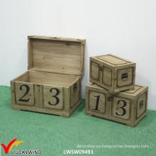 Cerradura Vintage Rustic Handmade Wooden Chest