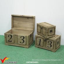 Lock Vintage Rustic Handmade Coffre en bois