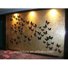 2016 Nueva decoración moderna de la pared del alivio del acero inoxidable para la decoración del hotel