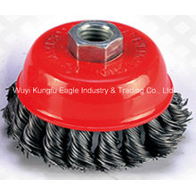 High Quality Crimped Wire Cup Brush in Machine