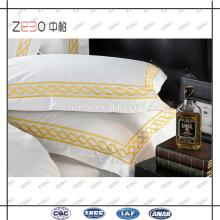 400 Thread Count tecido com logotipo de ouro Atacado linho linho travesseiro cobre