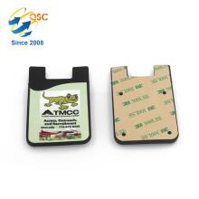 A maioria de venda direta direta da fábrica personaliza o saco do cartão do telefone do silicone