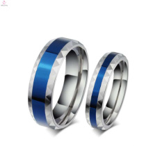 Anillos azules románticos de los pares, últimos diseños de anillo de dedo de joyería de moda