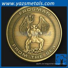 kundenspezifische Metallfrogman Herausforderung Münze