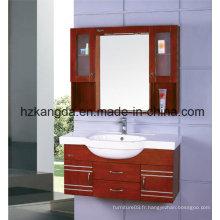 Cabinet de salle de bain en bois massif / vanité de salle de bain en bois massif (KD-417)