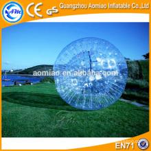 2,8 * 1,8 m ceinture de sécurité ballon hamster humain gonflable / boule zorb avec kit de réparation gratuit