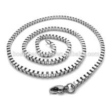 Art- und Weisequalitäts-Metallhalsketten-Edelstahl-Kasten-Kette