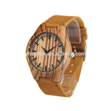 New Unisex Genuine Leather Wooden Bamboo Watches