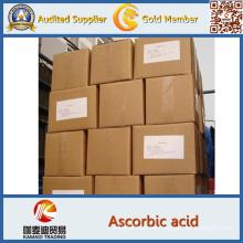 Suministre ácido ascórbico antioxidante de alta calidad de la vitamina C de la pureza elevada