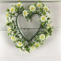 Cheap pendurado coroa de flores artificiais para decoração da janela