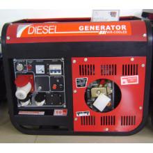 3gf-Lh02 Generador diesel trifásico de la fase 220V / 380V con la manija y las ruedas (3KW)