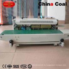 Maquina de sellado horizontal y continuo de plástico / banda de papel de aluminio / bolsa