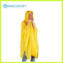 Poncho de lluvia de PVC amarillo Deluxe
