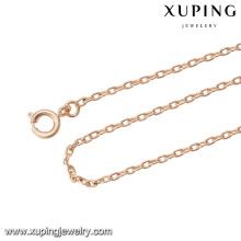 43883 mode gros china pas cher simple chaîne en or collier o fonte collier
