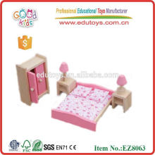 2015 New and Popular Wooden Mini Doll House Furniture Sets Toys