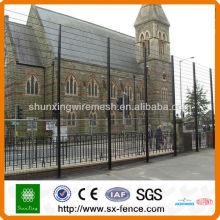 Clôture de sécurité recouverte de PVC 358, clôture de sécurité élevée anti-escalade
